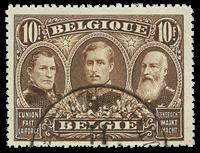 Belgique - Les trois premiers rois, 10Fr. brun - Obl. (OBP 149)