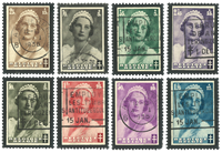 Belgien 1935 - OBP 411-18 - Stemplet
