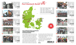 Danmark - Post Danmark rundt - Postfrisk ark
