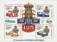 Monaco - Autoklub Monaco - Postfrisk miniark