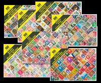 100 postzegels in geschenkbox