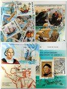 哥伦布5张小型张,1套和16张不同邮票