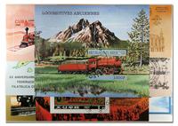 Locomotives 10 blocs-feuillets