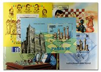 国际象棋8张小型张不同邮票