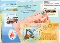 Cuba locomotives 5 souvenir sheets