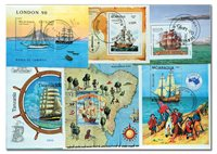Divers pays - marins 11 blocs-feuillets