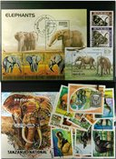Elephants 3 souvenir sheets and 26 stamps
