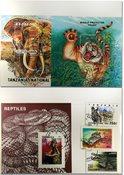 坦桑尼亚野生动物3张小型张和3套邮票