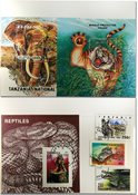 Tanzanie anaimaux sauvages 3 BF et 3 séries