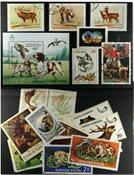 Chasse 1 bloc-feuillet et 20 timbres