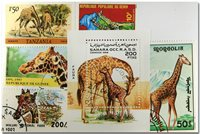 Girafe 1 bloc-feuillet et 5 timbres