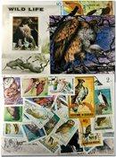 Rovfugle 4 miniark, 2 sæt, 29 frimærker