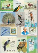 Birds 11 souvenir sheets