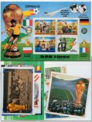 Rimet Cup - 16 souvenir sheets, 4 sets and 7 stamps