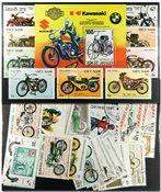 摩托车1张小型张和41张不同邮票