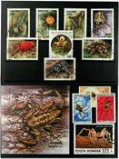 蜘蛛1张小型张,1套和5张邮票