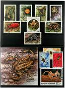 Edderkopper 1 miniark, 1 sæt og 5 frimærker