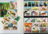 史前动物 3张小型张和40张不同邮票