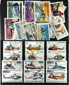 Helikopter 30 forskellige frimærker