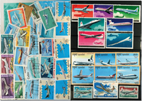 Compagnies aériennes 6 BF, 1 série et 37 timbres fifférents