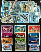 Avions 1 série et 26 timbres différents
