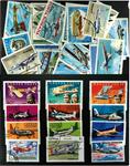 Fly 1 sæt og 26 forsk. frimærker