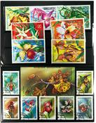 Orkideer 1 miniark, 5 sæt og 40 forsk. frimærker