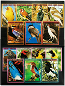 equatorial Guinea Birds of the continents 3 sets
