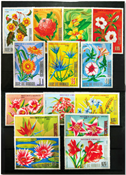 Equatorial Guinea Flowers of the continents 3 sets