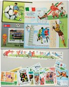 Fodbold VM 1990 6 miniark, 2 sæt og 20 frimærker