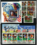 FIFA World Cup 1994 - 18 different stamps, 2 sets and 3 souvenir sheets