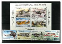 tuvalu Air Force 1 souvenir sheet and 1 set
