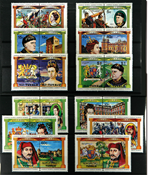 Tuvalu Kings and Queens 3 mint  sets