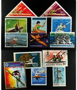 Kajak 13 forskellige frimærker