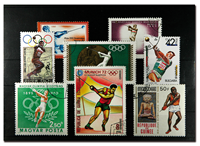Hammer throw - 8 different stamps