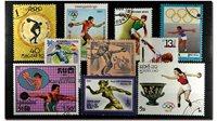 Lancer du disque 10 timbres différents