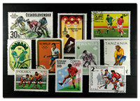 Field hockey 10 different stamps