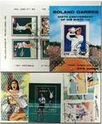 网球运动4张小型张和17张不同邮票
