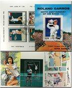 Tennis 4 miniark og 17 frimærker