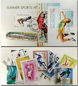 High jumping 3 souvenir sheets and 20 stamps