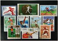 Lancer du javelot 21 timbres différents