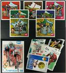 Racercykler 1 miniark, 1 sæt og 15 forskellige frimærker