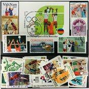 有关排球运动1张小型张和24张邮票
