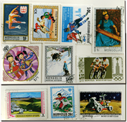 Mongolia 10 diff. sets used