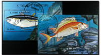 Fishes St. Tome 2 souvenir sheets