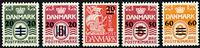 Færøerne provisorier - AFA 2A-6A - Postfrisk