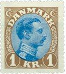Danmark - Typographie - AFA 131A