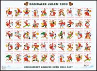 Danemark - Vignettes de Noël 2010 - Feuille