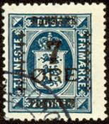 Danmark - 7 øres provisorie 1926.