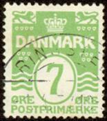 Danmark - 7 øre bølgelinie